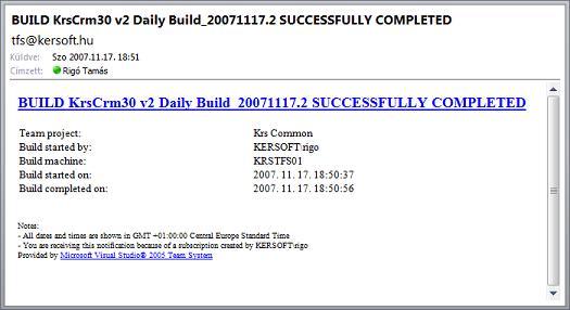 TFS Build E-mail