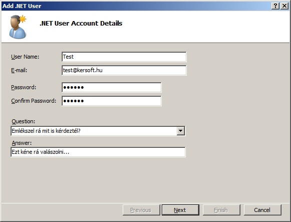ASP.NET Add User