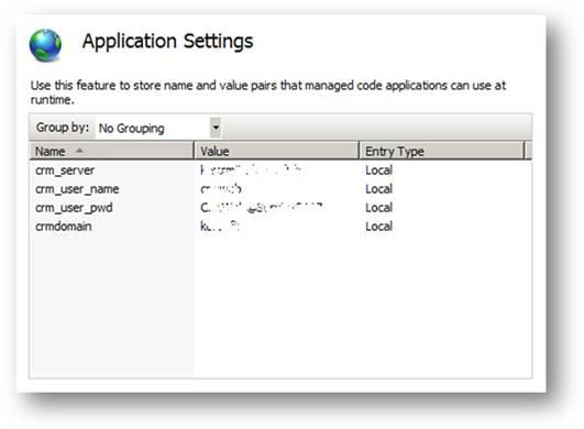 ASP.NET Application Settings