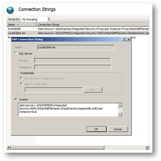 ASP.NET Connection Strings