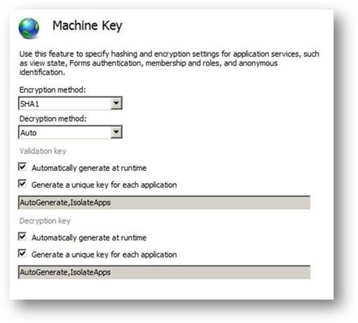 ASP.NET Machine Key