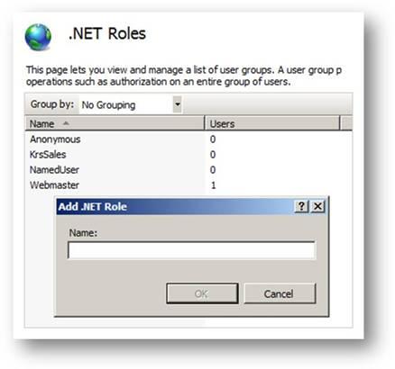 ASP.NET Role