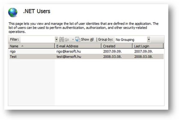 ASP.NET User List