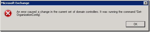 Get-OrgConfig Error