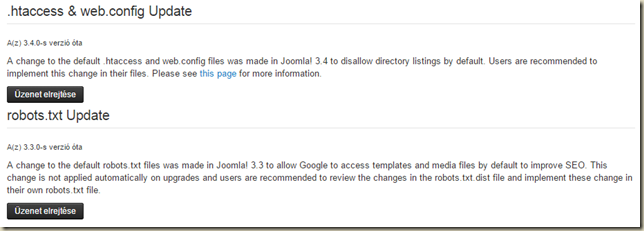 Joomla! 3.4 Beta 3 setup post message