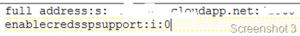 RDP fájl módosítása
